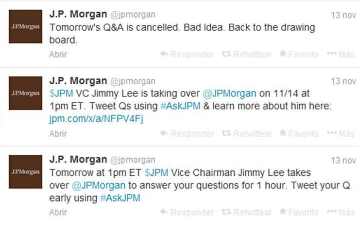 Tuits JP Morgan