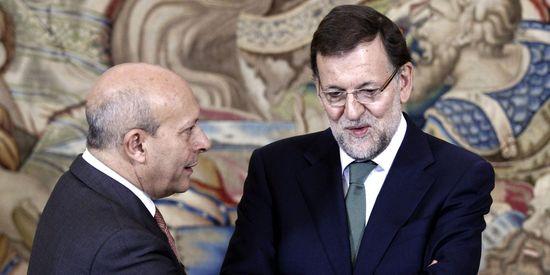 José Ignacio Wert y Mariano Rajoy.