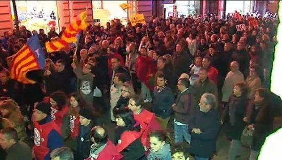 Manifestació contra el tancament de RTVV, València, 30-11-2013