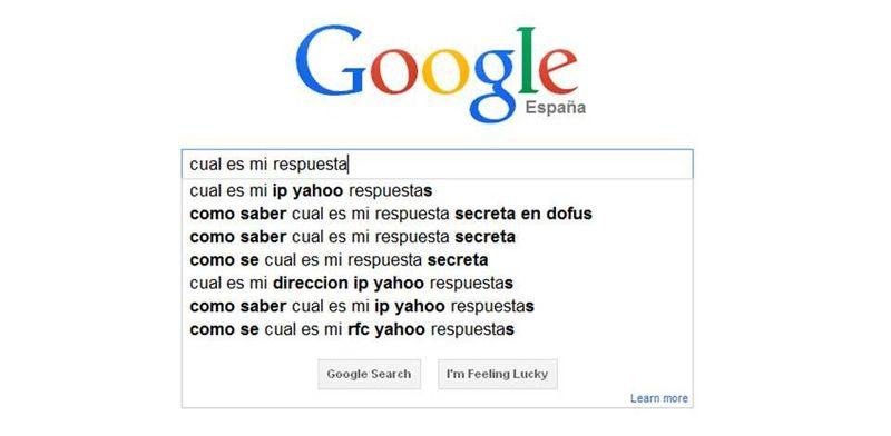 Google cual es mi respuesta