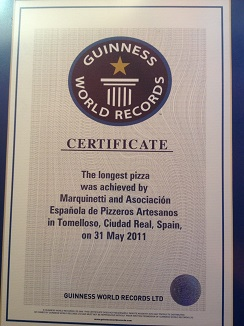Certificado Guinness a nombre de Jesús Marquina