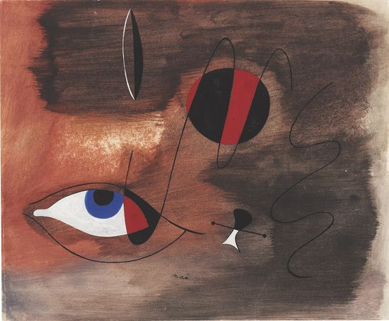 Joan Miró Apparitions (Visions), gouache and India ink on paper, executed on 30 August 1935 (estimate £450,000-650,000)
