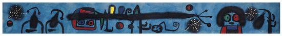 Joan Miró (1893-1983) Painting, oil on canvas, 1953 (estimate £2.5-3.5)(2)