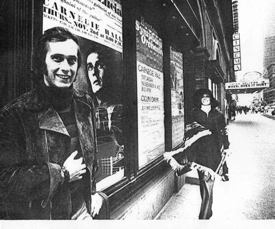 Marie Anne y Paco ante el Carnegie Hall