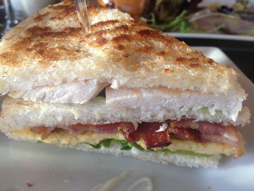 Sandwich Club del Hotel Villamagna, receta de Rodrigo de la Calle, bastante bueno