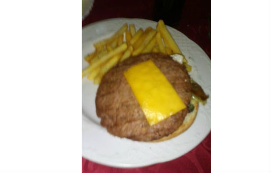 Hamburguesa con tranchete
