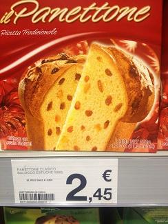 Panettone italiano a la venta en los supermercados de El Corte Inglés,