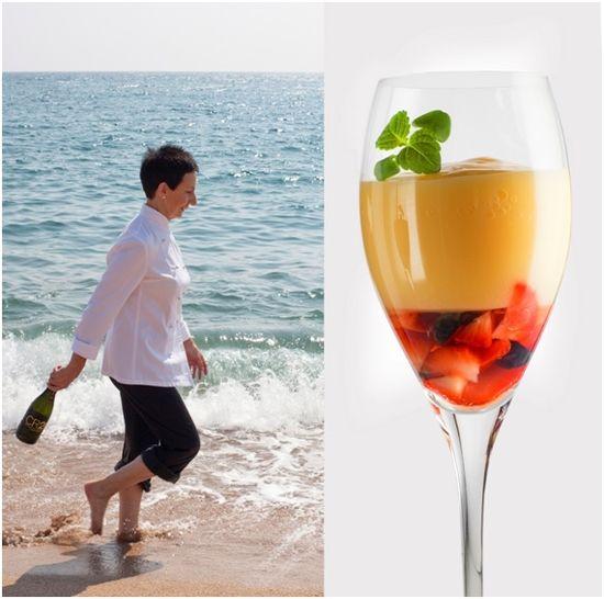 Carmen Ruscadella inventa un champán que se come con cuchara