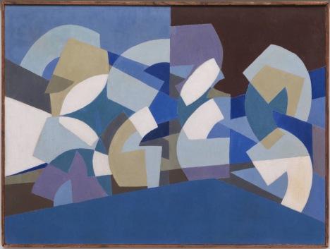 Saloua_raouda_choucaircomposition_in_blue_module_1947-51