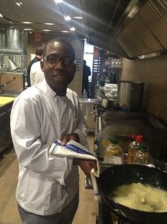 Ensayando en la cocina las patatas suflés