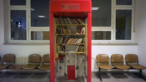 Cabina biblioteca en Praga