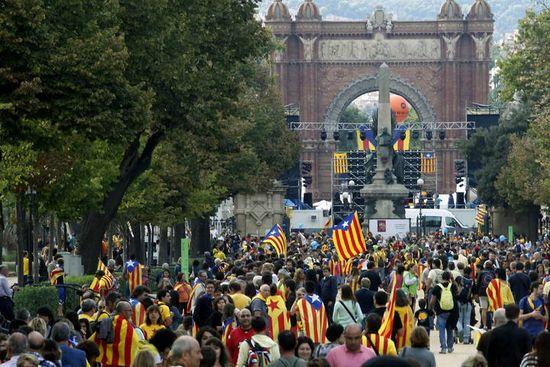 La vía catalana por la independencia en Barcelona, el 11 de septiembre de 2013.