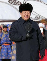 El presidente chiho, Xi Jinping, en la región autónoma de Mongollia Interior, días antes de la llegada del Año del Caballo. (Xinhua)