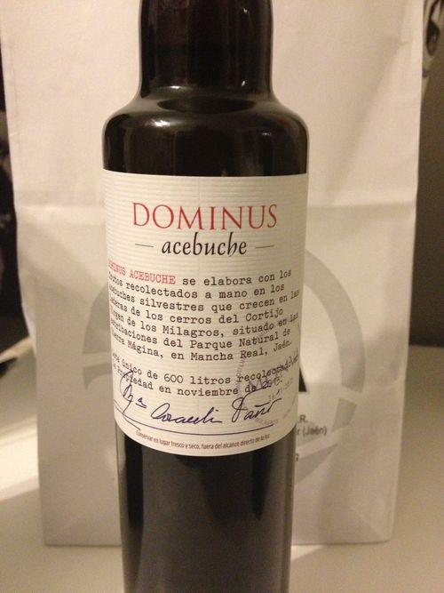 Aceite de acebuche de la firma Dominus