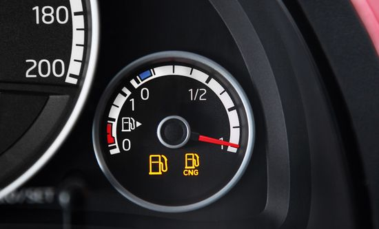 VW Up! indicador gas natural