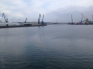 El puerto de A Coruña. Perspectiva frente a la lonja
