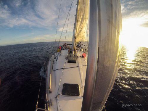 En barco por el Pacífico