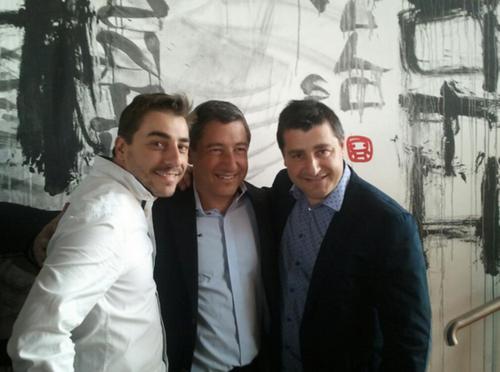 Los hermanos Roca el día después en Londres, abril de 2013, en la terraza del restaurante Sushi Samba