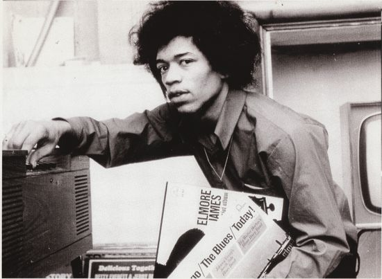Jimi hendrix with blues albums