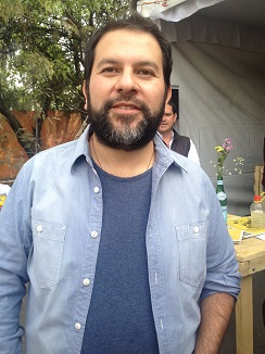 Enrique Olvera en la feria de food trucks