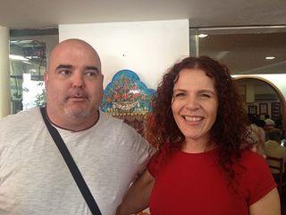 A la izquierda Joan Begur, alias El Boss, a la derecha la pastelera  Maria Teresa, hija de Titita
