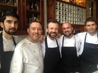 Albert Adria y Nacho Manzano momentos ntes de la cena ofrecida en Londres el pasado martes 3 de junio