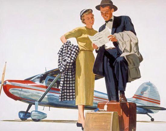 Vintage-airline-travel