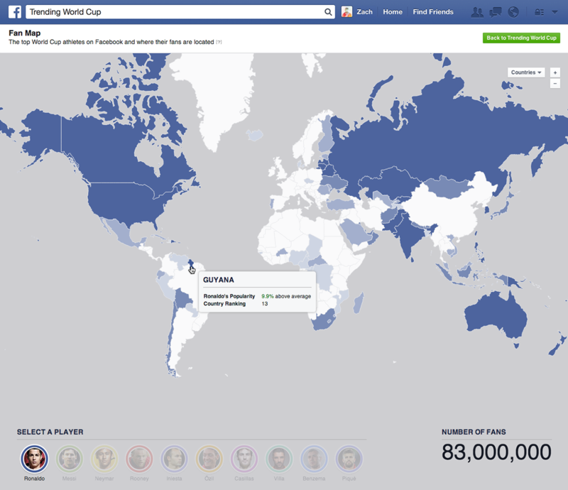 Trending World Cup Map