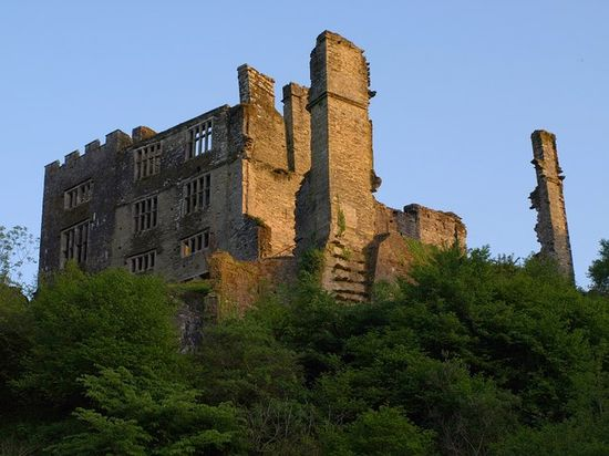 Castillo de Berry Pomeroy  (Devon del Sur, Reino Unido).