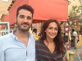 Álvaro Martín, director de el proyecto El Cuartel, junto con Lourdes Reyzabal, presidenta de la Fundación Raíces