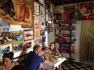 Interior  de Venta El Toro, una estampa del más auténtico tipismo