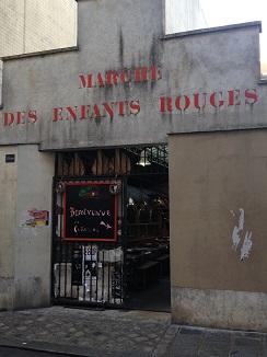 Pobretona entrada al mercado medio escondida en Le Marais