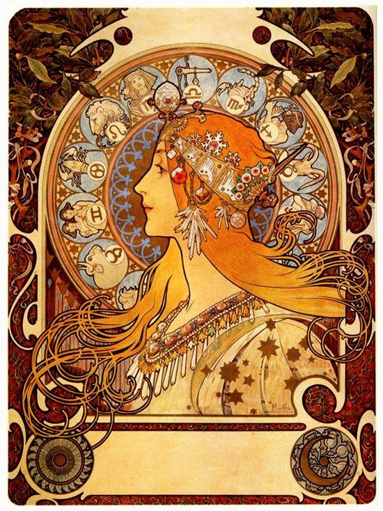El Zodíaco, de Alfons Mucha