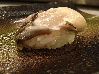 Nigiri de ostra. Kabuki Welington