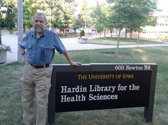 Francisco Mora en la Universidad de Iowa