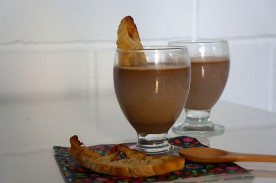 Batido de chocolate turron
