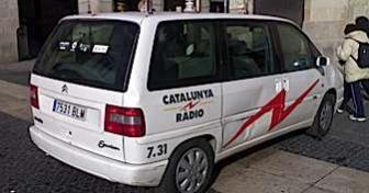 Un vehicle de Catalunya Ràdio