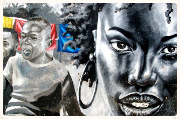 Grafiti de Afran en Malabo