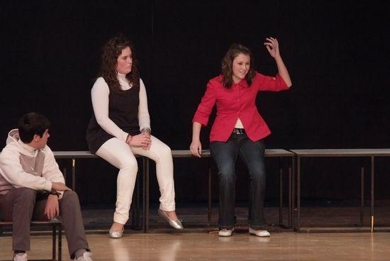 Ensayo teatral de estudiantes