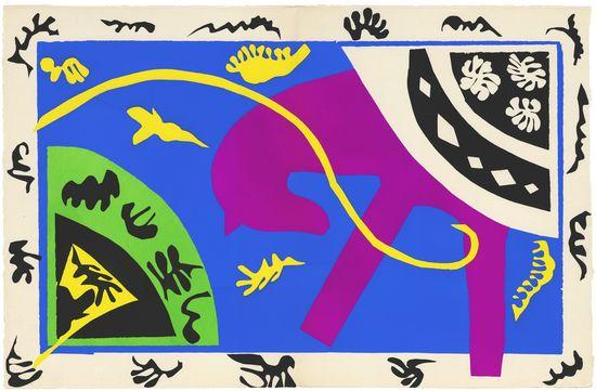 Henri Matisse, The Horse, the Rider, and the Clown 1943-4 © Centre Pompidou, MNAM-CCI, Dist. RMN-Grand Palais- Jean-Claude Planchet © Succession Henri Matisse- DACS 2013