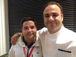 Juanlu, jefe de cocina de Aponiente, con Ángel León