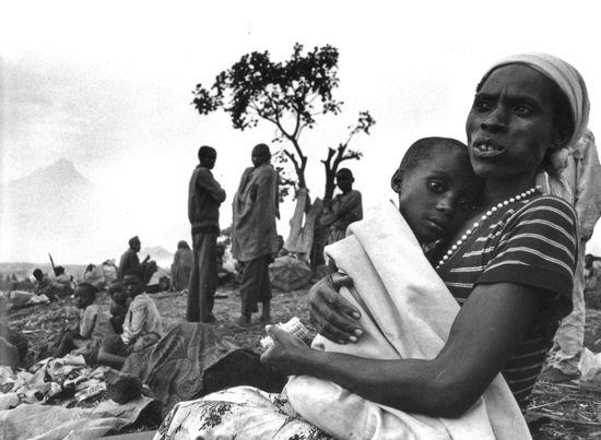 © JAVIER BAULUZ - Campo de Kibumba (Zaire) 1994