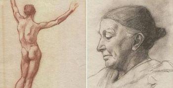 Dos dibujos de Hitler enviados a la Academia de Bellas Artes de Viena
