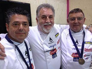 Jurado técnico. En el centro Jaime Castellón. A un lado y otro Jaime Espinosa y Alfonso Salido