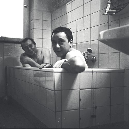 Sigmar Polke and Gerhard Richter - In the bathtub 1966. Image courtesy Gerhard Richter Archive 2014