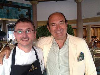 Andoni Aduriz y el riojano Félix Revuelta, propietario de la cadena  Natur House y del hotel Las Dunas