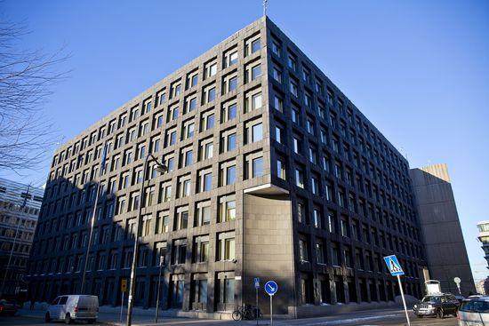 Cuartel general del Riksbank en Estocolmo.