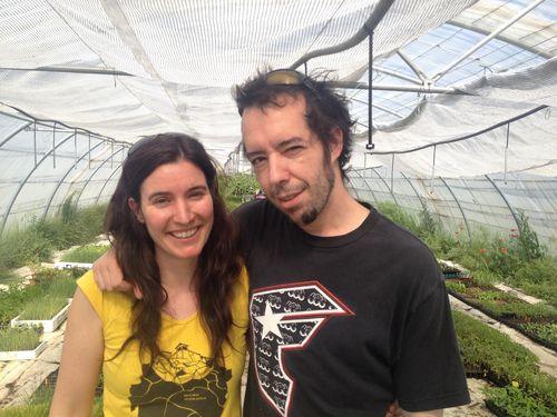 Laura Aceituno junto con Daniel Ochoa, uno de los dos propietarios del restaurante Montia (El Escorial)