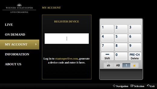 Registro app opera viena