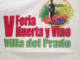 Cartel de la V Feria de la Huerta y el Vino en Villa delPrado